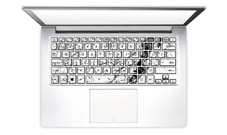 Non-MacBook Laptop Keyboard Decals
