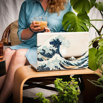 Great Wave of Kanagawa MacBook skin