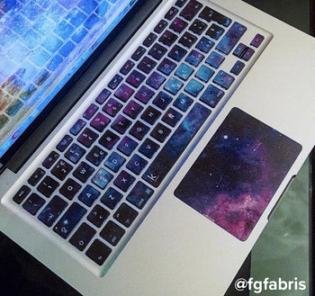 Sleepy galaxy MacBook trackpad stickers