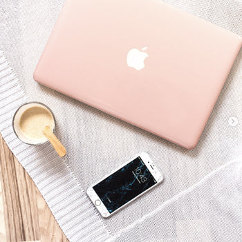 Rose gold ombre MacBook skin