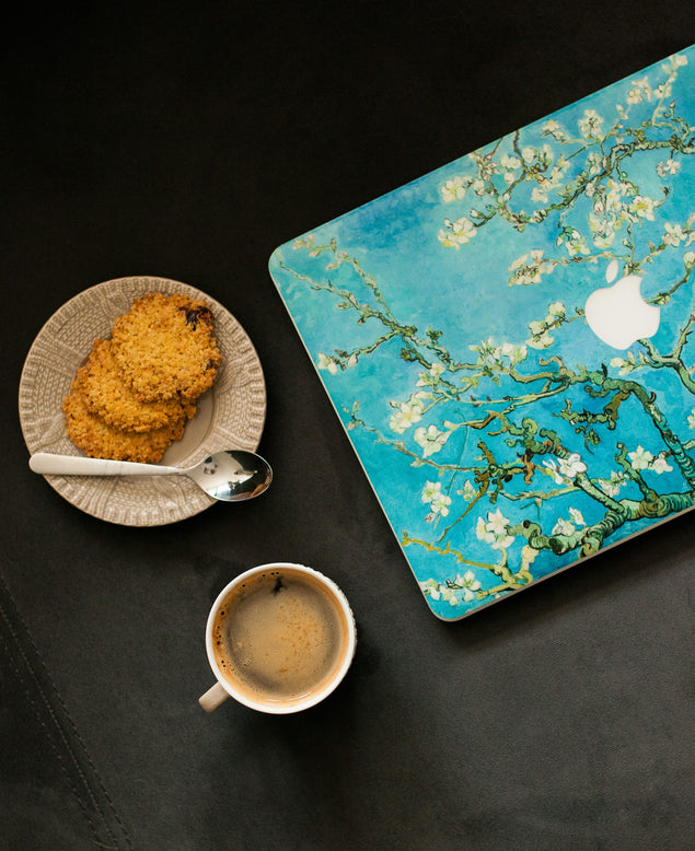 Blossoming almond tree MacBook Skin real photo