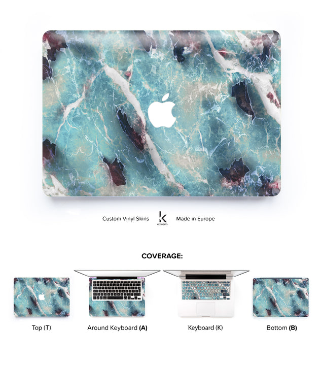Azure Marble MacBook Skin