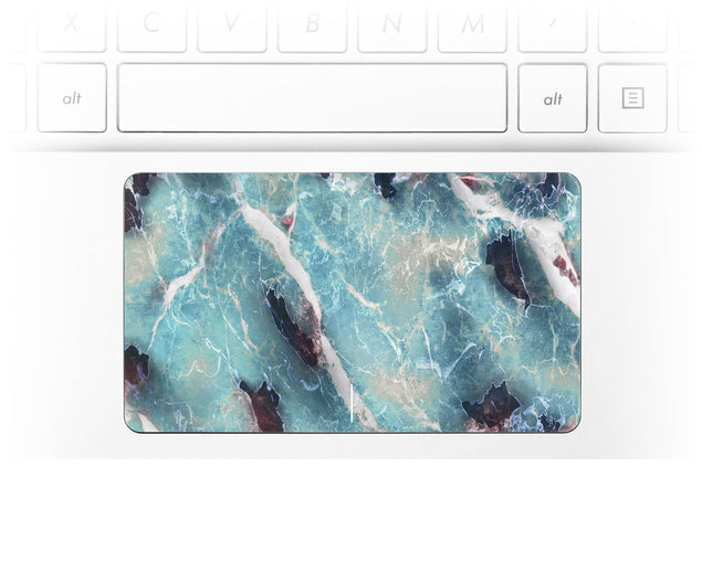 Azure Marble Laptop Trackpad Sticker