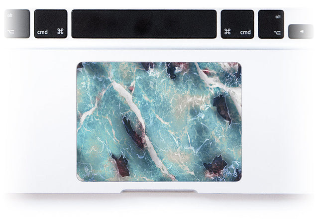 Azure Marble MacBook Trackpad Sticker alternate