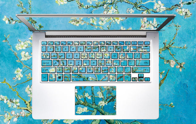 High quality keyboard stickers with classic van goghs art