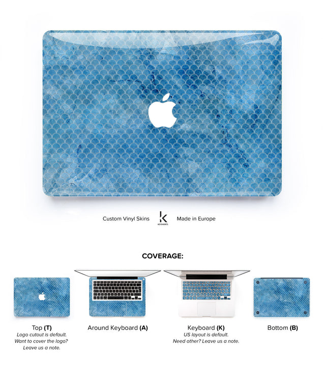 Blue Fin Tiles MacBook Skin
