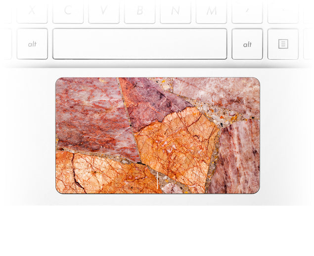 Blushy Orange Marble Laptop Trackpad Sticker