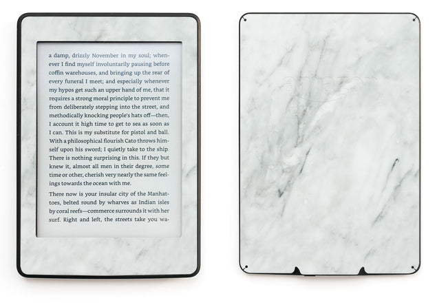 Desired White Marble Kindle Skin