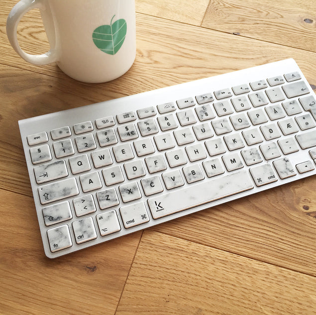White Marble MacBook Keyboard Decal