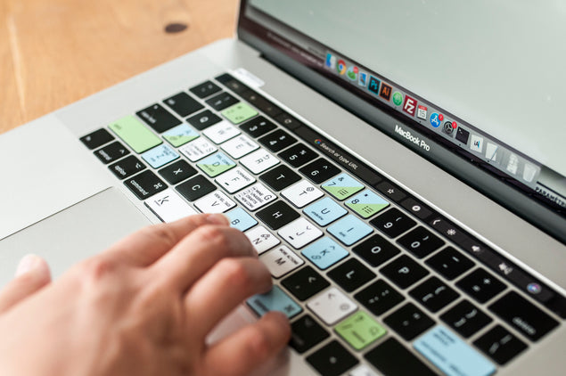 HelpScout Keyboard Shortcuts Stickers Closeup