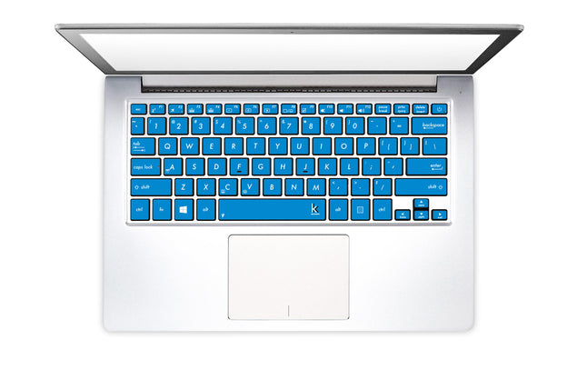 Summer blue keyboard stickers