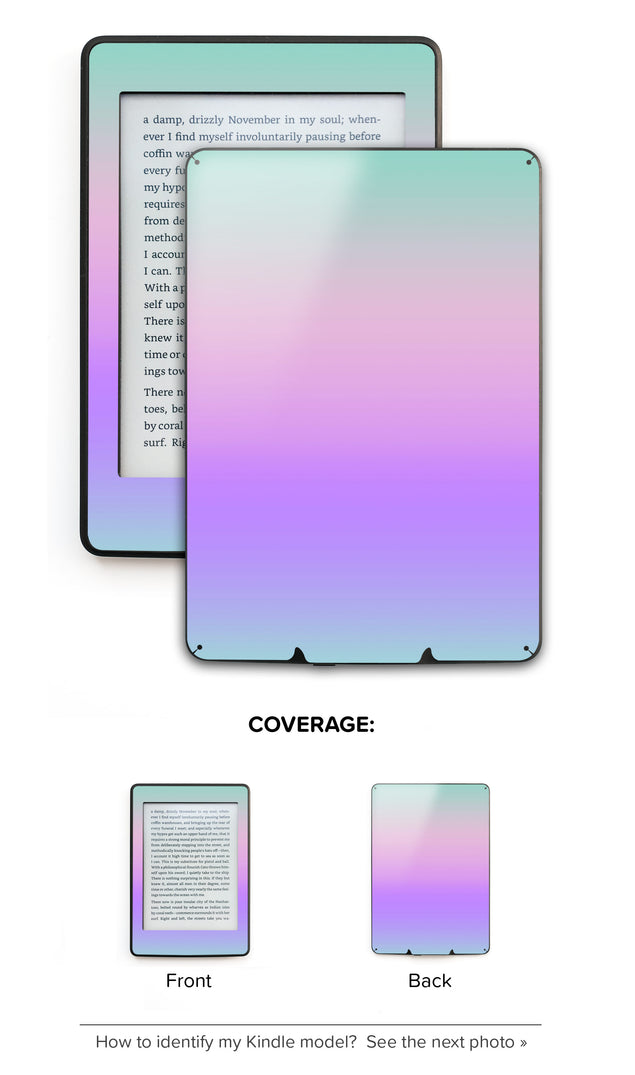 Kawaii Ombre Kindle Skin