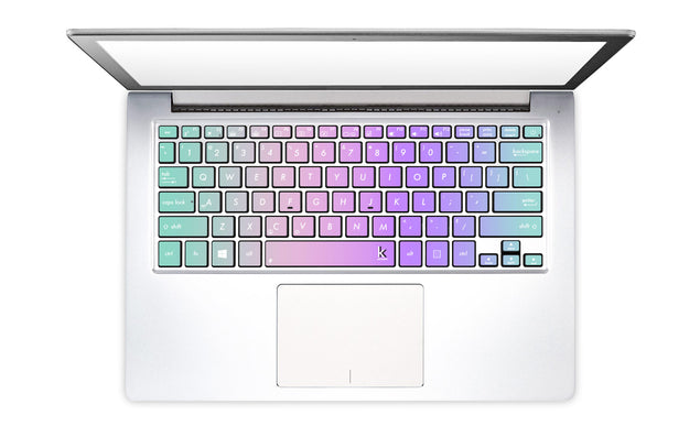 Kawaii Ombre Laptop Keyboard Stickers