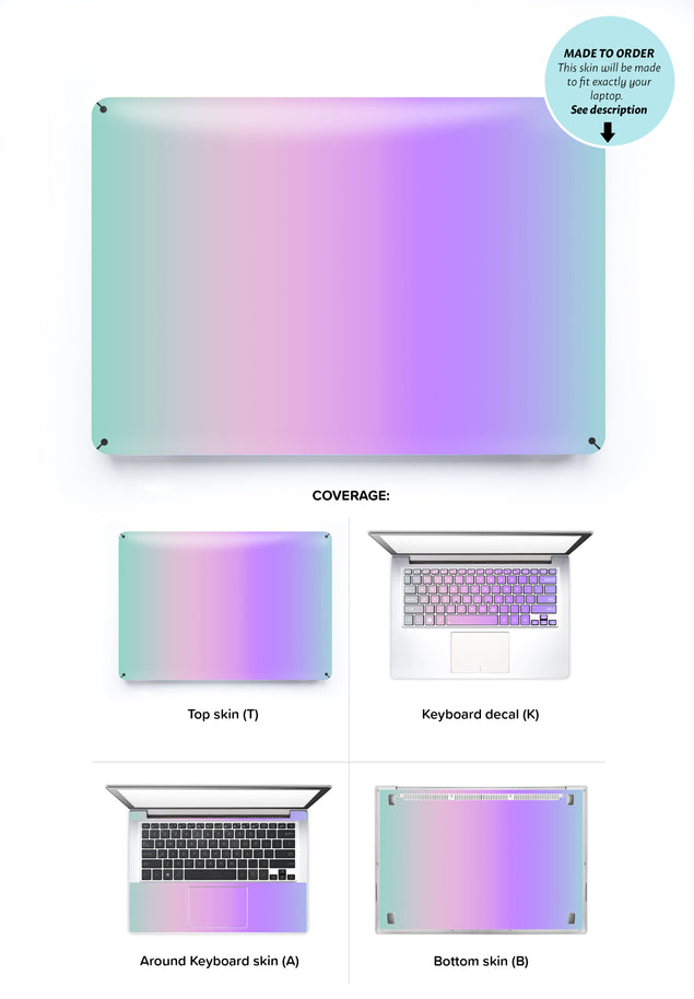 Kawaii Ombre Laptop Skin