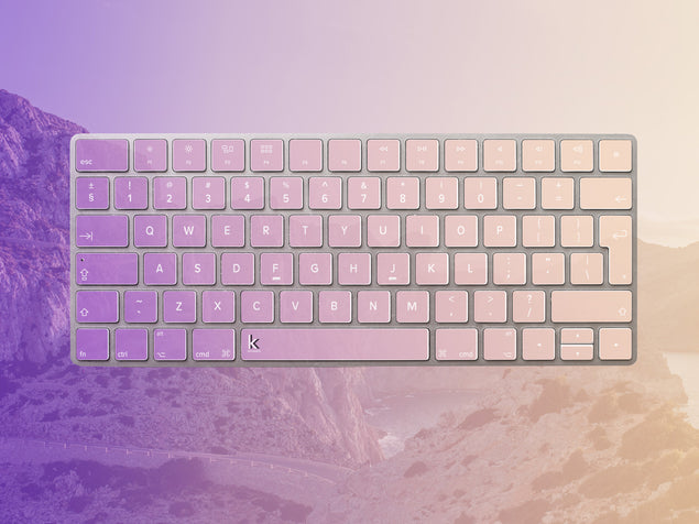 Lucky Rocks Keyboard Stickers Preview on Apple Magic Keyboard