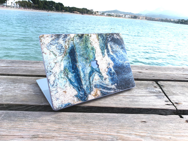MacBook Pro 15 Case with blue marble by the ocean