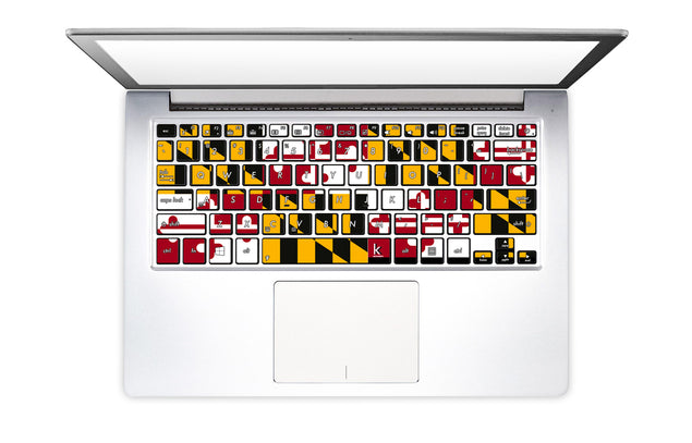 Maryland Flag on keyboard stickers