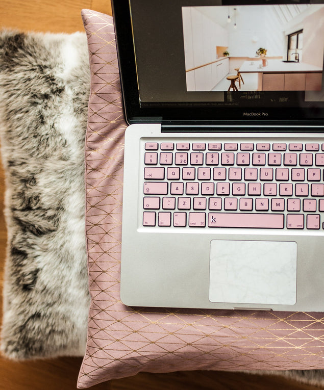 Millennial pink macbook keyboard stickers