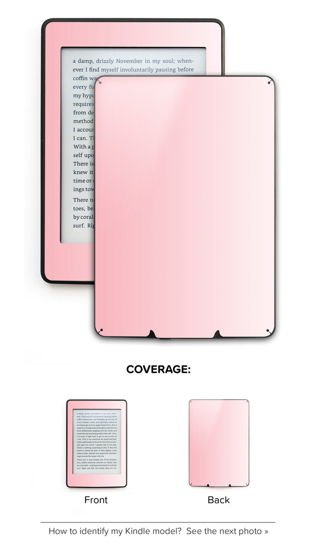 Millennial Pink Vanilla Ombre Kindle Skin