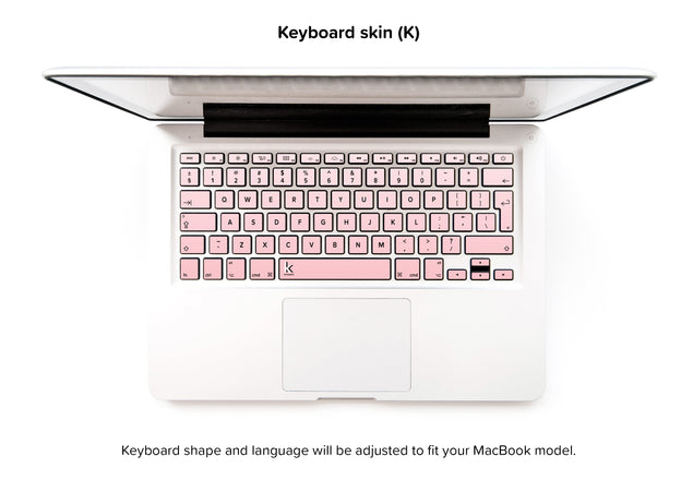 Millennial Pink Vanilla Ombre MacBook Skin - keyboard stickers