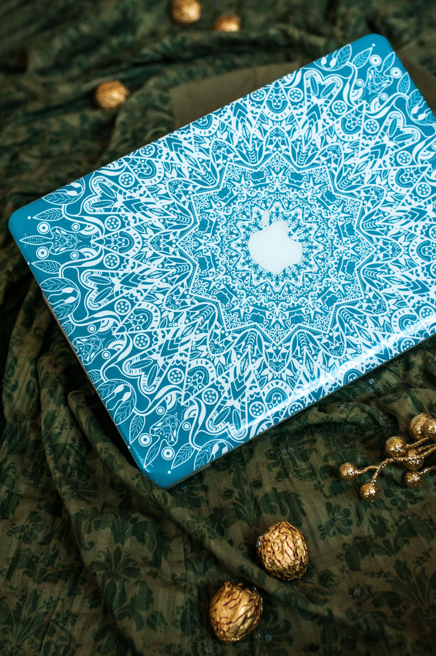 Mint Mandala MacBook Skin at Keyshorts.com - 5