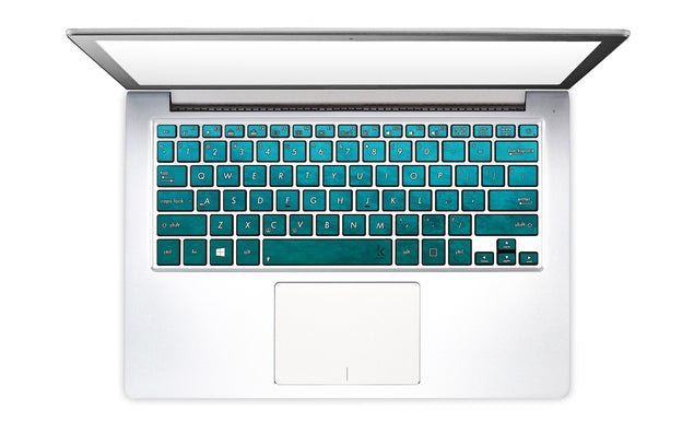 Petroleum Blue Laptop Keyboard Decal