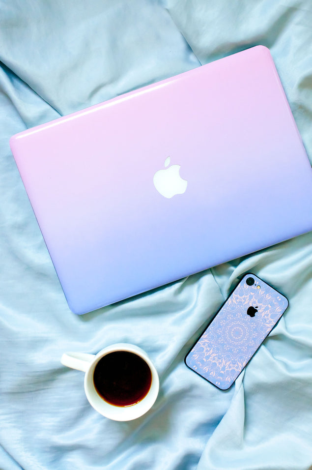 Purple Pink Ombre MacBook Skin at Keyshorts.com - 3