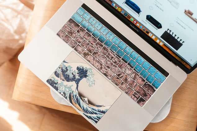 Great Wave of Kanagawa Custom Touchpad Sticker for Laptop
