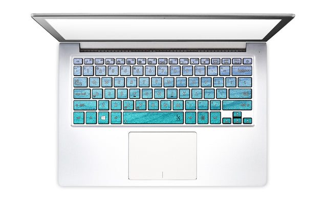 Serenity Waves Laptop Keyboard Decal