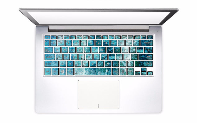 Teal Tie Dye Laptop Keyboard Decal