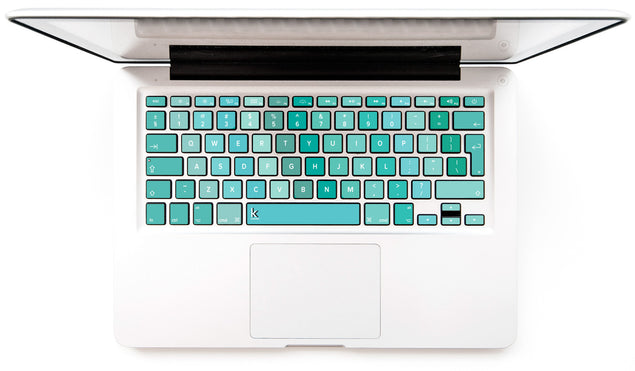 Turbo Mint MacBook Keyboard Decal at Keyshorts.com