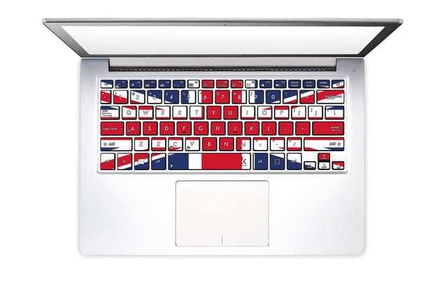 Keyboard stickers with UK Flag