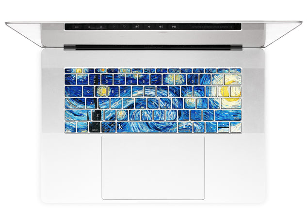 US english keyboard stickers with Van Gogh Starry Night for MacBook Pro