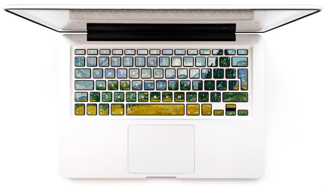 Wheat Field with Cypress Tree MacBook Keyboard Decal at Keyshorts.com