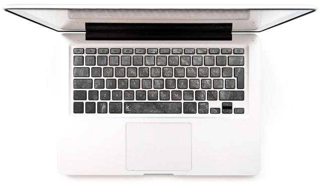 Achromatic Marble MacBook Keyboard Stickers