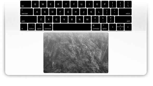 Achromatic Marble MacBook Trackpad Sticker