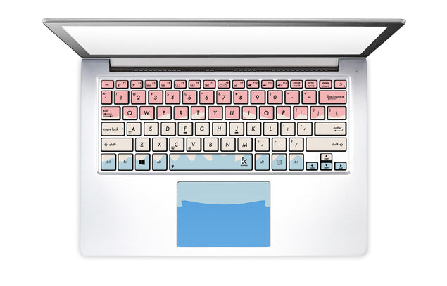 Acrylic Ombre Laptop Keyboard Stickers