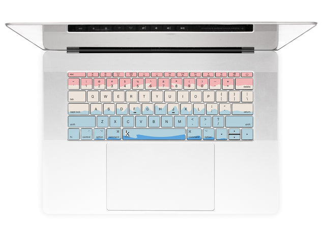 Acrylic Ombre MacBook Keyboard Stickers alternate
