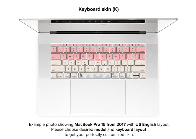 Acrylic Ombre MacBook Skin - keyboard stickers