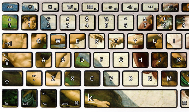 Creation of Adam MacBook Keyboard Decal at Keyshorts.com - 2