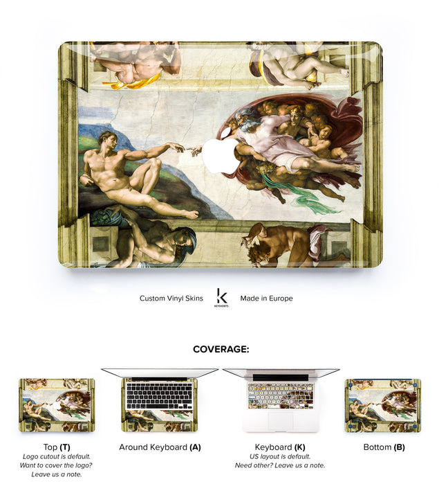 Creation of Adam MacBook Skin at Keyshorts.com