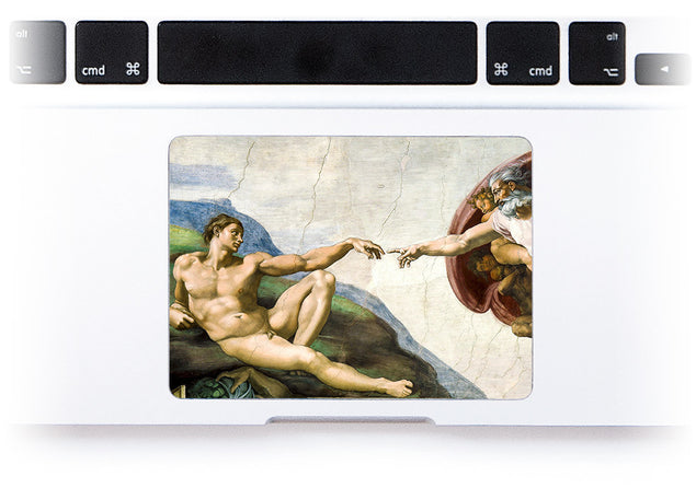 Creation of Adam MacBook Trackpad Sticker at Keyshorts.com