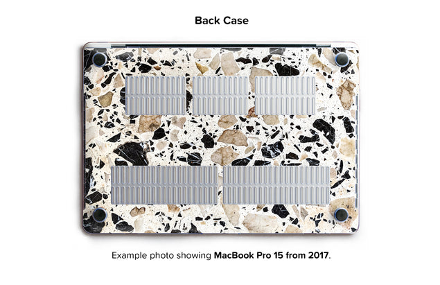 Alcudia Terrazzo Hard Case for MacBook Pro 15 with TouchBar - back/bottom case