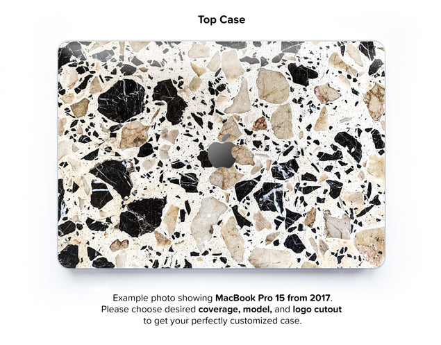 Alcudia Terrazzo Hard Case for MacBook Pro 15 with TouchBar - top case