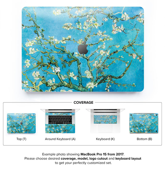 Blossoming almond tree MacBook Pro 15 Skin