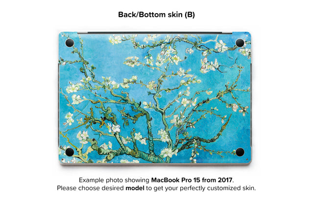 Blossoming almond tree MacBook Back Skin