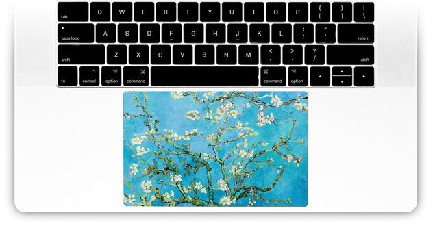 Blossoming Almond Tree by Van Gogh MacBook Trackpad Sticker