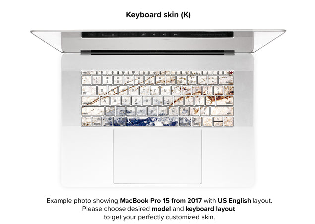 Amazing Marble MacBook Skin - keyboard stickers