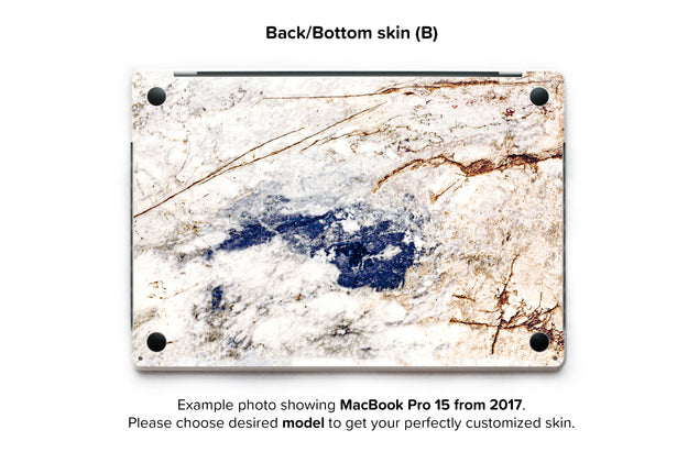 Amazing Marble MacBook Skin - back skin
