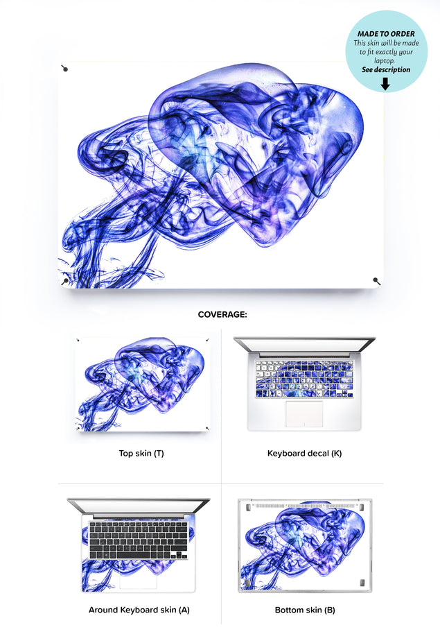 Analog galaxy Laptop Skin